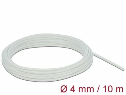 Schutzschlauch Glasfasergeflecht 10 m x 4 mm weiß, Delock® [18927]