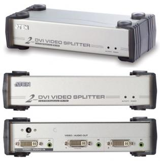 Aten® VS-162 DVI Video Splitter mit Audio 2-fach