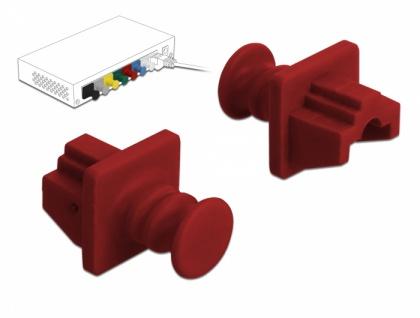 Staubschutz für RJ45 Buchse 10 Stück rot, Delock® [86510]