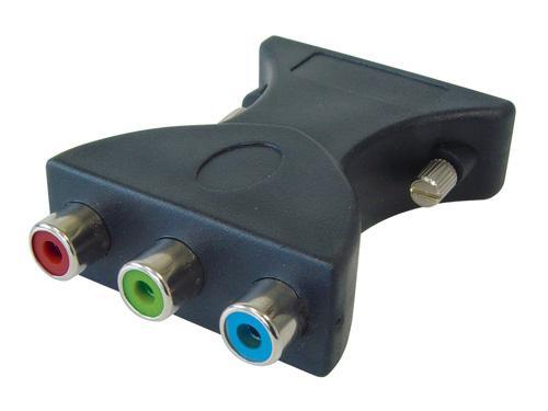 Adapter DVI Stecker (24+5) an 3x Cinch Buchse (RGB), Good Connections®