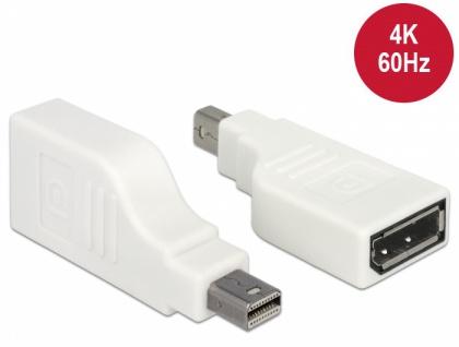Adapter mini Displayport 1.2 Stecker an Displayport Buchse 4K 90____deg; gedreht, weiß, Delock® [65867] - Vorschau
