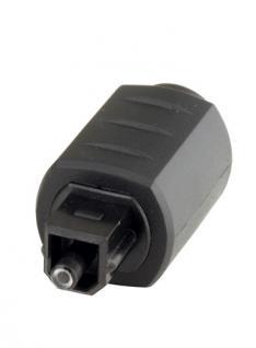 kabelmeister® Adapter Toslink Stecker auf 3, 5mm Mini Buchse, schwarz