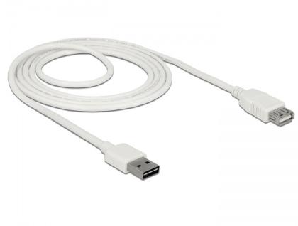Verlängerungskabel EASY-USB 2.0 Typ-A Stecker an USB 2.0 Typ-A Buchse, weiß, 2 m, Delock® [85200]