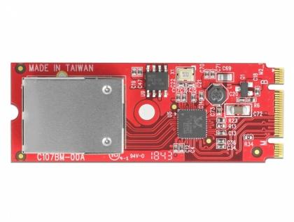 M.2 Konverter Key B+M zu 1x RJ45 Gigabit LAN Port horizontal, Delock® [64061]