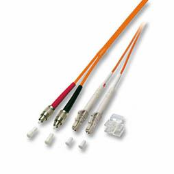 kabelmeister® Patchkabel LWL Duplex OS2 (Singlemode, 9/125) LC/FC-PC, 0, 5m