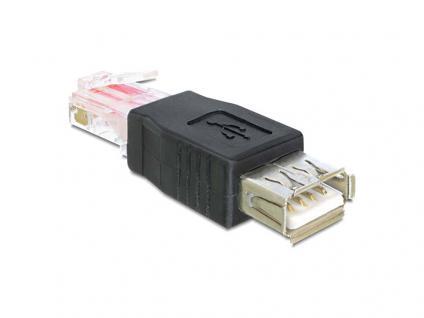 Adapter USB Buchse an RJ45 Stecker, Delock® [65234]