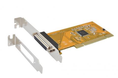 1P Parallel EPP/ECP PCI Karte, inkl. Low Profile Bügel (ASIX Chip-Set), Exsys® [EX-41001]