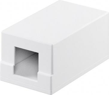 KeyStone Leergehäuse 1-port, Snap-In Montage, weiß