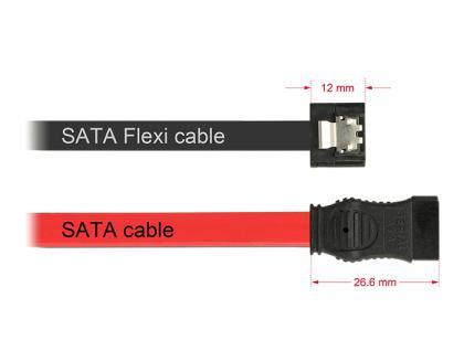 Kabel SATA FLEXI 6 Gb/s 50 cm schwarz Metall, Delock® [83841]