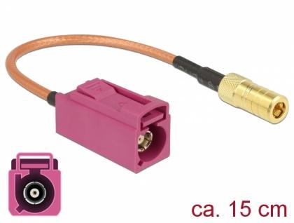 Antennenkabel FAKRA H Buchse an SMB Buchse RG-316 15 cm, Delock® [89677]