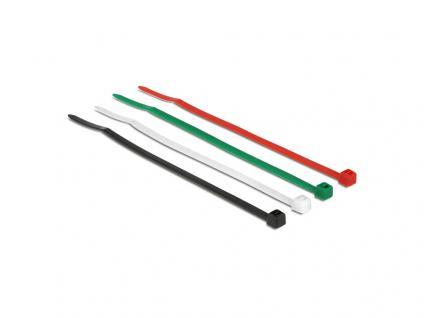 Kabelbinder farbig 100 mm Version D, 200 Stück, Delock® [18625]