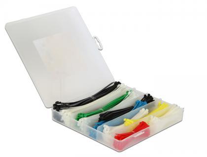Kabelbinder Sortimentsbox 600-teilig farbig, Delock® [18629]