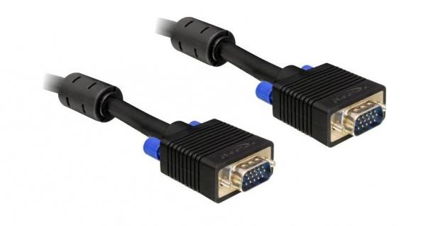 Anschlusskabel, VGA Stecker an Stecker, 5m, Delock® [82559 ]
