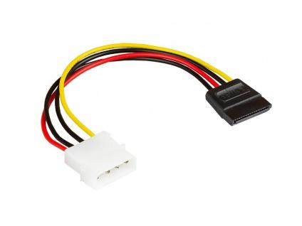 kabelmeister® S-ATA Stromkabel 1x 4pin Stecker an 15pin Buchse, Länge: ca. 15cm