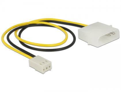 Stromkabel 2 Pin Stecker an 3 Pin Buchse (Lüfter) 30 cm, Delock® [83659]