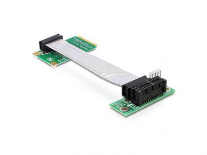 Schnittstellenkarte, Riser PCI Express Mini an PCI Express mit flexiblem Kabel 9 cm rechts gerichtet, Delock® [41851]