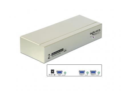VGA Splitter Audio und Video 450MHz, 2-Port, Delock® [87654]