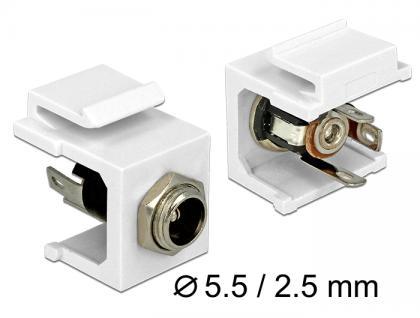 Keystone Modul DC 5, 5 x 2, 5 mm Buchse, Delock® [86373]