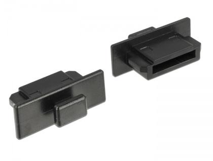 Staubschutz für eSATA Stecker, mit Griff, 10 Stück, schwarz, Delock® [64024]