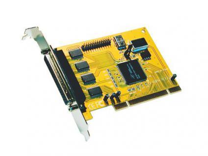 Serielle/Parallele PCI Karte, 4x 9-pol, 1x 25pol, Exsys® [EX-41054]