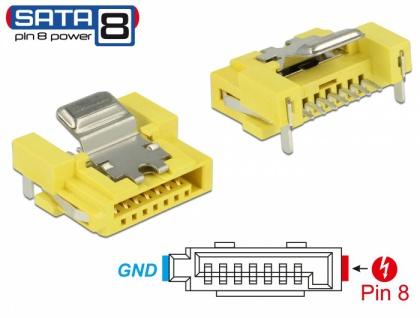 Steckverbinder SATA 6 Gb/s Buchse 8 Pin Power, Delock® [89887]