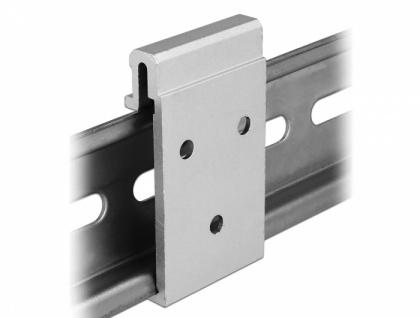 Aluminium Montageclip für Hutschiene, Delock® [65991]