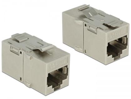 Keystone Modul RJ45 Buchse an RJ45 Buchse, Cat.6A, Metall, Delock® [86408]