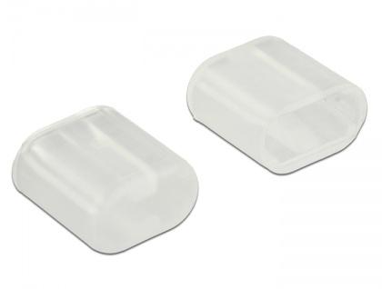 Staubschutz für Lightning Stecker 10 Stück, transparent, Delock® [64035]