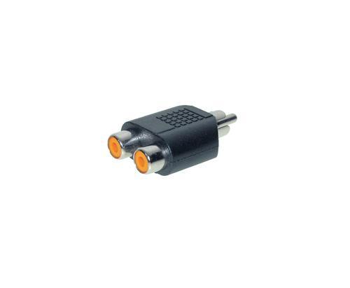 kabelmeister® Audio Adapter 2 X Cinch Buchse / 1 X Cinch Stecker