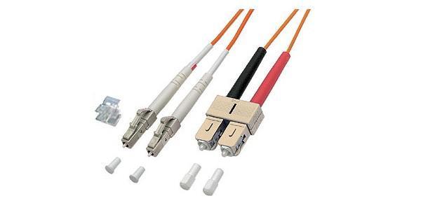 kabelmeister® Patchkabel LWL Duplex OM2 (Multimode, 50/125) LC/SC, 2m