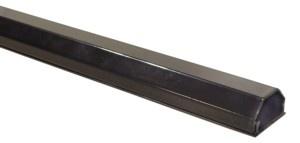 Kabelkanal Aluminium 50mm, 2-teilig, Länge 0, 75m, schwarz