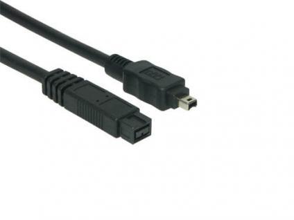kabelmeister® FireWire IEEE1394b Anschlusskabel 9/4, 2m