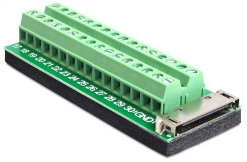 Adapter IPhone 30 Pin Buchse > Terminalblock 32 Pin Delock® [65442]