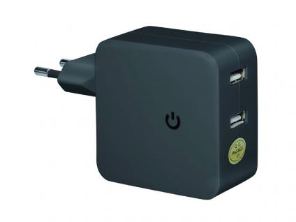 USB Netzteil getaktet, Netzteil Stecker an 2x USB Buchse
