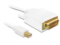 Anschlusskabel, Displayport mini Stecker zu DVI 24pin Stecker, 5m, Delock® [82920]