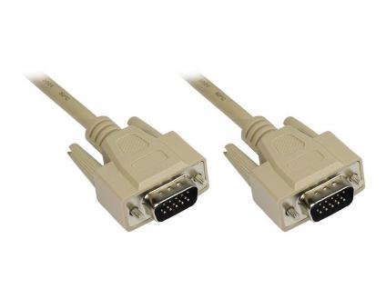 Anschlusskabel VGA Stecker an Stecker, grau, 5m, LogiLink® [CV0027]