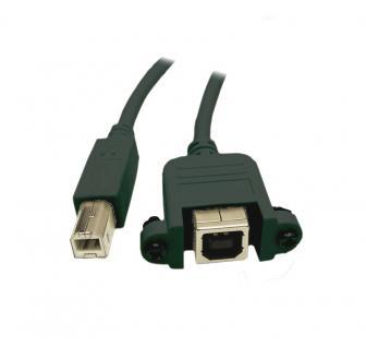 kabelmeister® Verlängerung USB 2.0 Stecker B an Einbaubuchse B, 3m