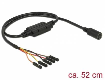 Anschlusskabel MD6 Buchse Seriell > 5 Pin Pfostenbuchse, Rastermaß 2, 54 mm LVTTL (3, 3 V) 52 cm, Delock® [62929]