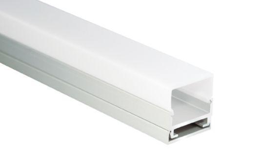 Al-Profil für LED-Leisten, 19, 5 x 20mm, 1m