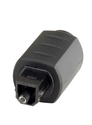 Adapter Toslink Stecker auf 3, 5mm Mini Buchse, schwarz, Good Connections®