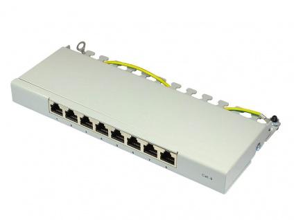 Patch Panel Desktop Cat. 6, geschirmt, STP, 0, 5 HE, 8-Port, lichtgrau RAL7035, Good Connections®