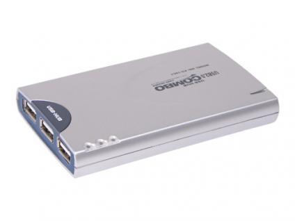 USB 2.0 Card Reader 19in1 + 3-port USB 2.0 Hub
