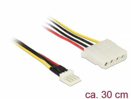 Kabel Power Floppy 4 Pin Stecker an Molex 4 Pin Buchse, 0, 3 m, Delock® [85457]
