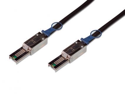 kabelmeister® SAS Kabel SFF-8088 auf SFF-8088 Amphenol, ext. mini SAS auf ext. mini SAS, AWG 28, 1m