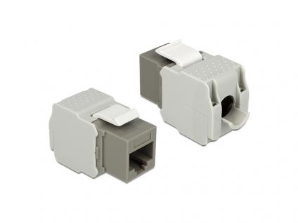 Keystone Modul, Cat.6, RJ45 Buchse an LSA UTP, grau, Delock® [86342]