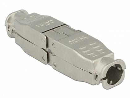 Verbinder für Netzwerkkabel Cat.6A STP werkzeugfrei , Delock® [86429]