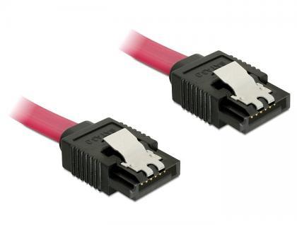 SATA 6 Gb/s Anschlusskabel mit Metallclip, 10cm, Delock® [82674]