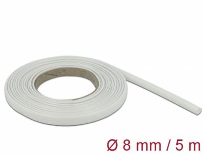 Schutzschlauch Glasfasergeflecht 5 m x 8 mm weiß, Delock® [18932]