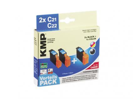 KMP Tintenpatrone kompatibel mit CANON BCI-24BK, BCI-24C