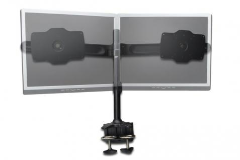 Dual Monitor Ständer, klemmen Basis, schwarz, 20____deg; schwenkbar, rotierbar 90____deg;, max gew. 15kg 24'-32' TFT, neigbar 15____deg; Digitus® [DA-90321]
